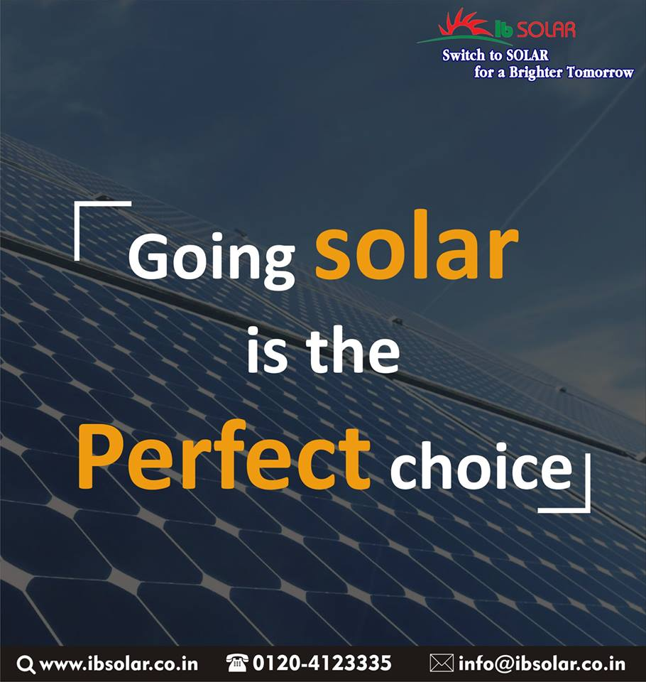 Going solar is the perfect choice