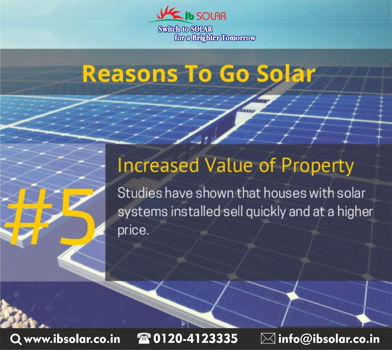 Reasons To Go Solar5 Increased Value of Property.
