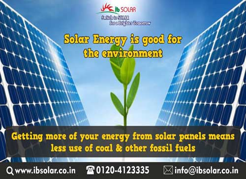 Solar Energy is good for the Environment