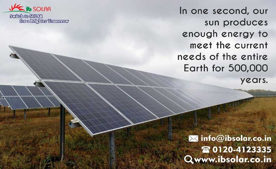 our sun produces enough energy to meet current needs of the entire Earth for 500,000 years.