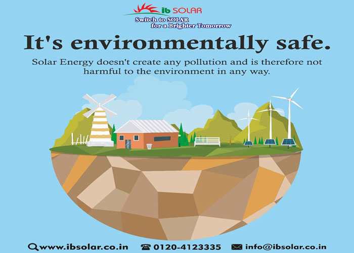 Solar Energy doesn't create any pollution and is therefore not harmful