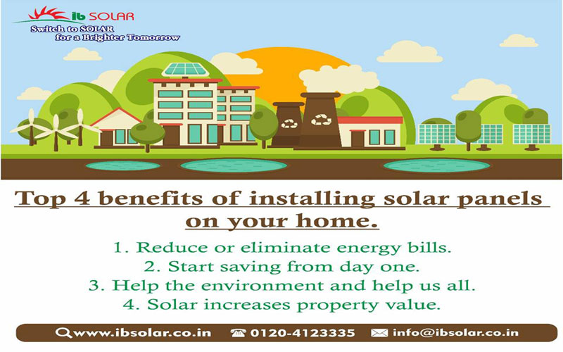 Top 4 Benefits of installing solar panels on your home